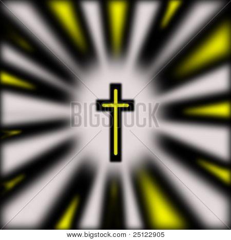 Backlit Cross Illustration