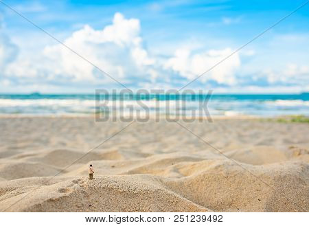 Mini Photographer Doll And Sea.