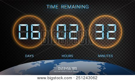 Countdown Timer Vector & Photo (Free Trial) | Bigstock