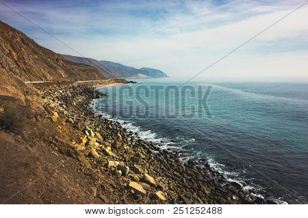 Iconic View Of Pacific Coast Highway