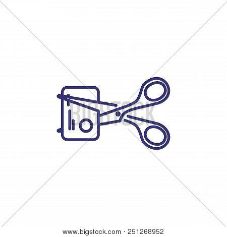 Credit Card Cutting Line Icon. Plastic Card, Scissors, Destruction. Finance Management Concept. Can