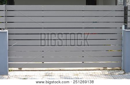 Wooden Gate For Garage For Private House