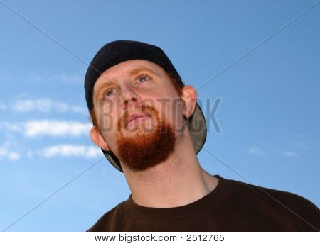 Guy Looking Upward