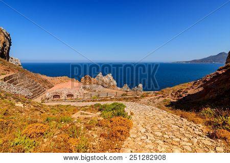 The Planu Sartu Mine Is Located On The Limestone Plateau West Of Buggerru, Near The Mining Village.