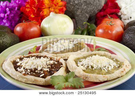 Mexican Sopes Dish
