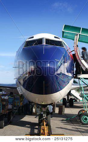 boeing preparing to take off