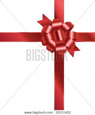 Red bow in vector format. XL JPG version also available.
