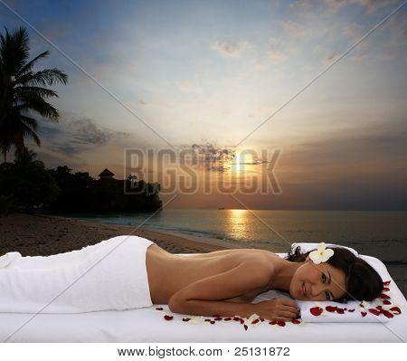 Natural outdoor spa & massage