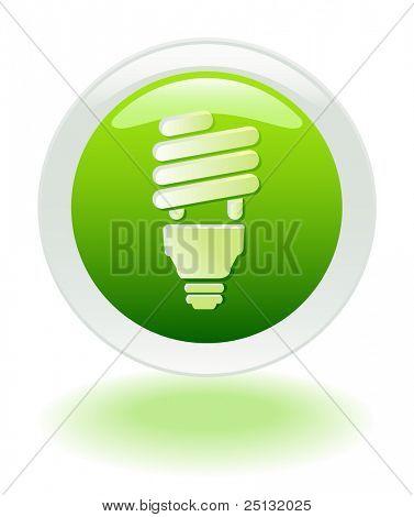 Ahorro de energía web icono/botón