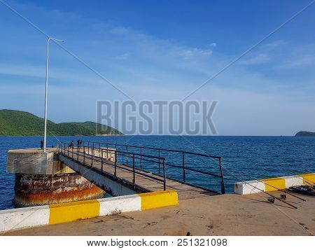 Octa Pier Pillar Errect From The Sea Water Is One Of The Part Of Deep Sea Port For Commercial Ships,