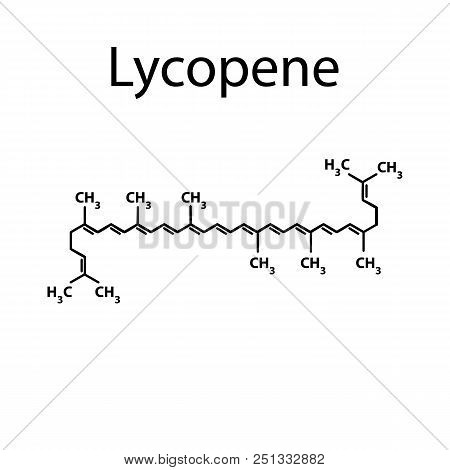 Lycopene Is A Chemical Molecular Formula. Vector Illustration On Isolated Background