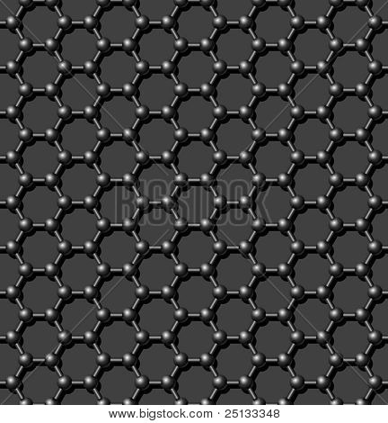 Seamless carbon molecular lattice background - vector pattern for continuous replicate. See more seamlessly backgrounds in my portfolio. poster