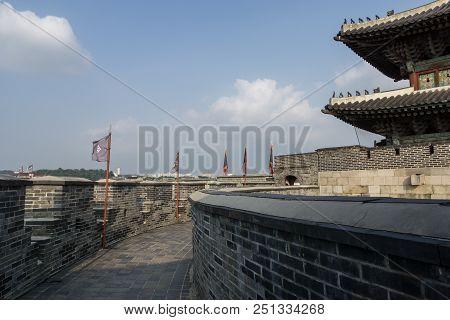 Janganmun Gate And Hwaseong Fortress