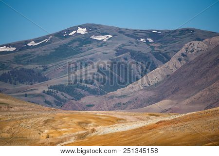 Mountain Landscape, Red-orange Color, Reminiscent Of The Color Of The Surface Of The Planet Mars. Th