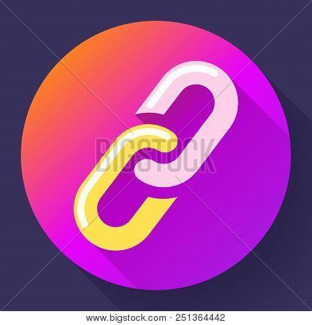 Link Icon. Hyperlink Chain Symbol. Link Vector Flat Illustration.