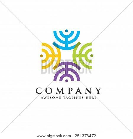Network Connections Business Company Logo, Connect Circle Logo, Circle Connect Logo,communication, I