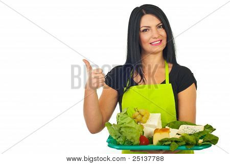Successful Cheese Maker Giving Thumbs
