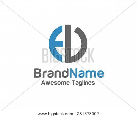 Creative Letter Ed Logo With Circle Design Elements. Simple Letter Ed Letter Logo,business Corporate