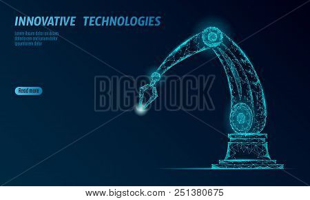 Robot Arm Low Poly Vector & Photo (Free Trial) | Bigstock
