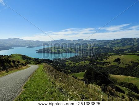The Road Down To The Village In Akaroa
