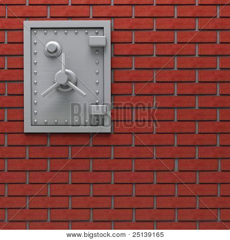Wall safe.