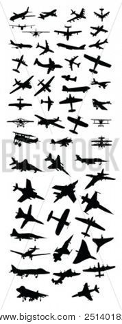 Plane Silhouettes Vector Collection