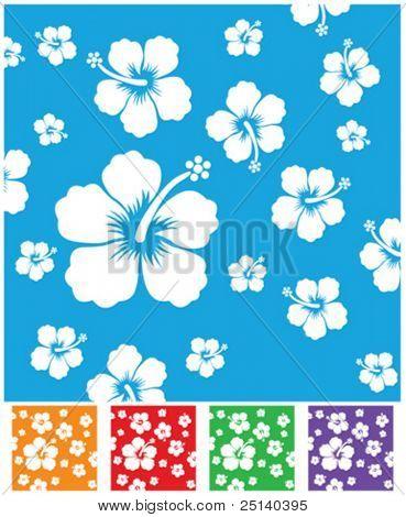 vector hibiscus pattern