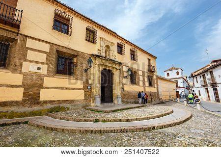 Granada, Spain, April 06, 2018: Traditional Arabic Architecture Of Andalusia, Albaicin Moorish Medie