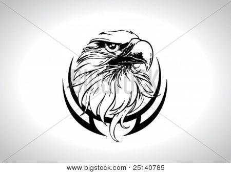 Eagle Head Line Art Vector Illustration