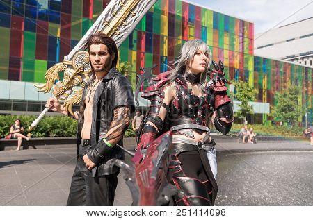 Montreal, Canada - 8 July 2017: Pop-culture Fan Convention Comic Con