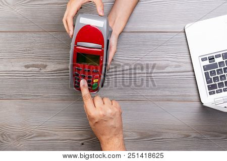 Customer Dialing Pin Code On Payment Terminal