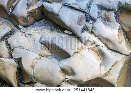 A Close-up Of A Stone Image In Nature. Photo Shows A Stone Texture. The Texture Of The Stone, I Phot