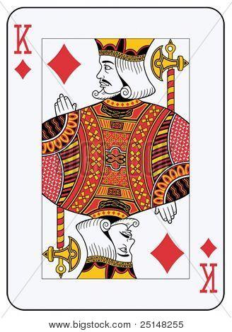 Король алмазы игральных карт