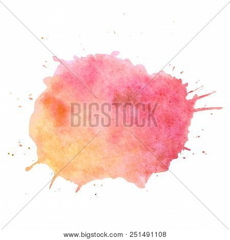 Watercolor Paint Blob Vector Text Box. Isolated Watercolor Paint Blob For Web, Sale, Banner, Text Bo