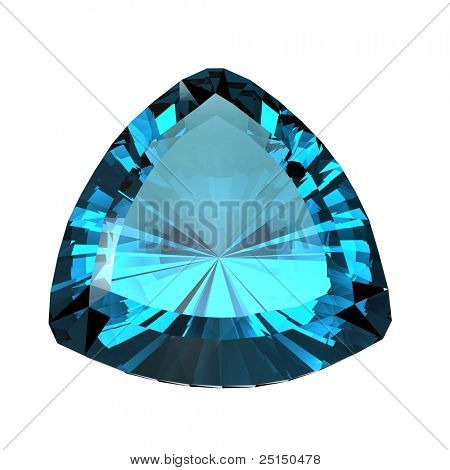 Jewelry gems shape of trillion. Topaz