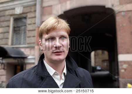 Portrait Of Man In Town