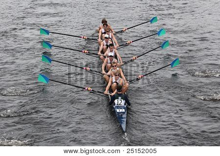 BOSTON - OCTOBER 23: Green Lake Crew youth men's Eights races