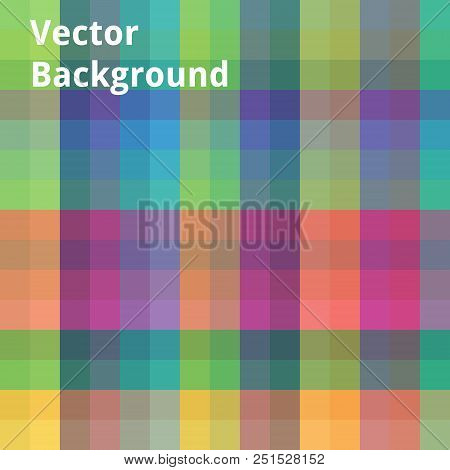 Abstract Image Which Depicts The Colorful Squares