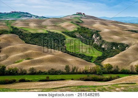 Farm On Top Of The Hill In Tuscany