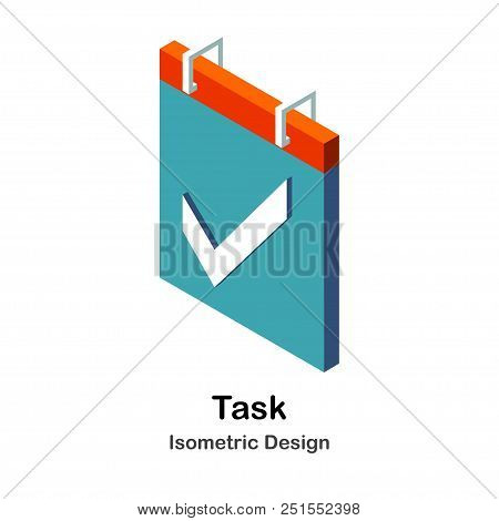 Check List With Check Mark Isometric Illustration