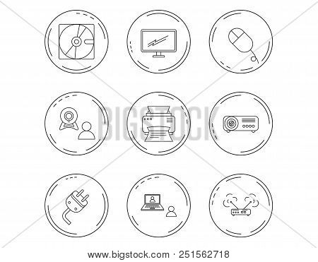 Monitor Printer Wi Vector Photo Free Trial