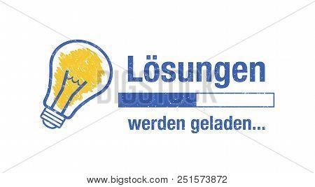 Banner Solutions Loading - German Phrase: Lösungen Werden Geladen