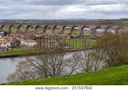 Royal Border Bridge, The Railway Viaduct Across The River Tweed Between Berwick-upon-tweed And Tweed
