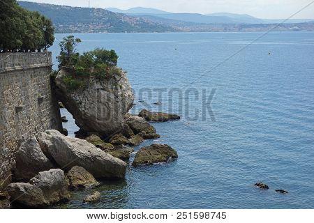 Coastline Along The Gulf Of Trieste, Italy