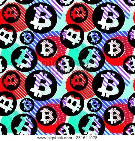 Bitcoin Crypto Trade Seamless Pattern
