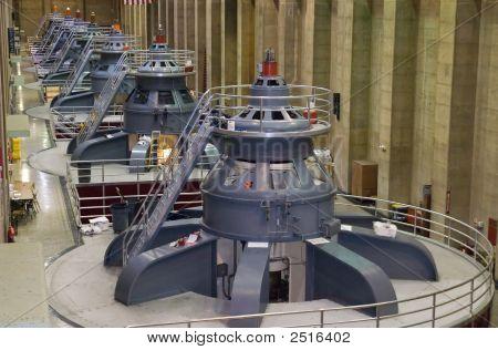 Power Generators At Hoover Dam