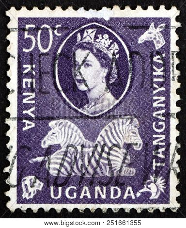 East African Postal Union - Circa 1960: A Stamp Printed In The East African Postal Union (kenya, Uga