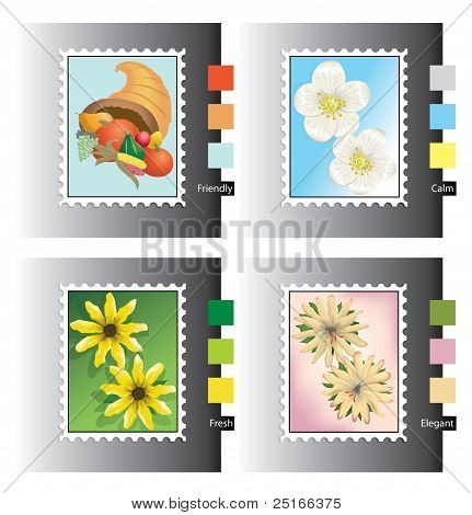 Seasonal Stamp Icons