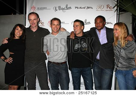 LOS ANGELES - NOV 9: Elizabeth Rodriguez, Bryan F. O'Byrne, Tim Griffin,  Kirk Acevedo, Damon Gupton, Maria Bello at the