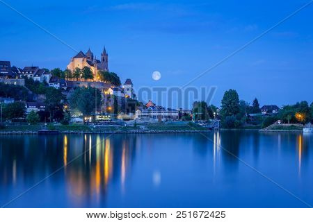 An image of a night view to the church of Breisach Germany